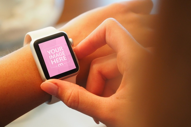 Closeup Person Using Smartwatch preview image