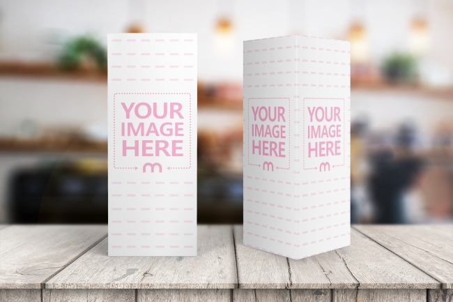 Table Talker on Wood Stage Background Mockup Generator preview image