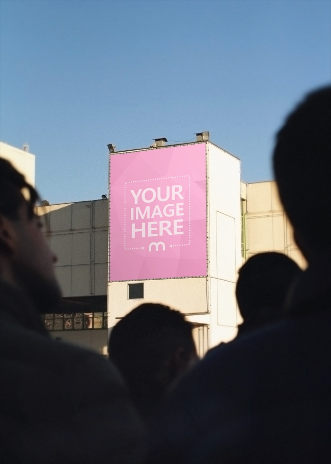 Large Billboard on House Mockup Generator preview image