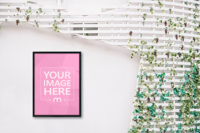 Canvas Frame Hanging on Wall Mockup preview image