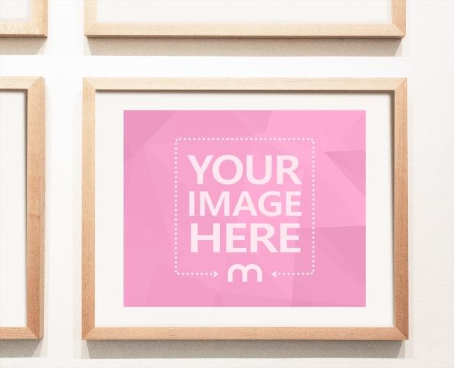 Photo Frame on Gallery Wall Mockup Generator