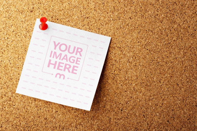 Pinned Note on Corkboard Mockup Generator preview image