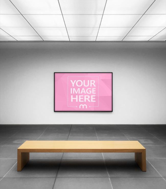 Landscape Canvas Frame on Gallery Wall Mockup preview image