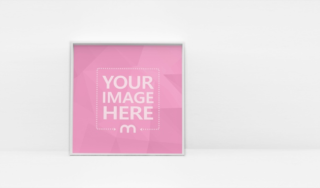 Square Image Frame on White Background preview image