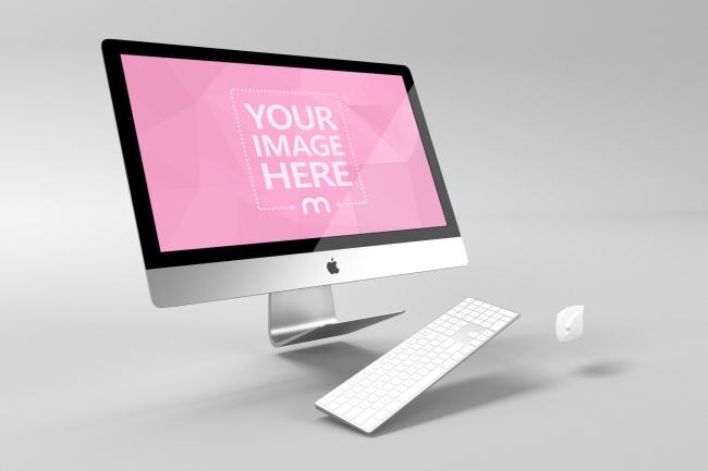 3D Hovering iMac Computer Mockup Generator preview image