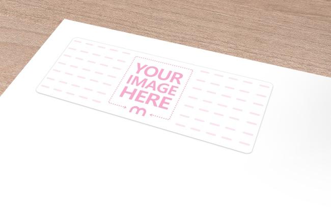 Address Label on Envelope Mockup Template