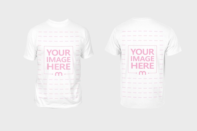 Front and Back T-Shirt Mockup Generator preview image