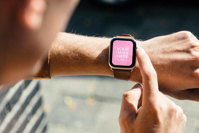 Man Wearing Apple Watch Mockup