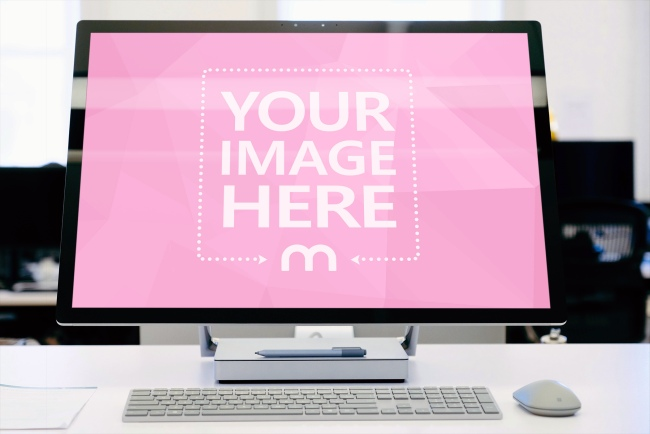 Surface Studio Computer Screen Mockup preview image