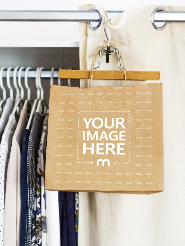 Paper Shopping Bag Logo Mockup Generator preview image