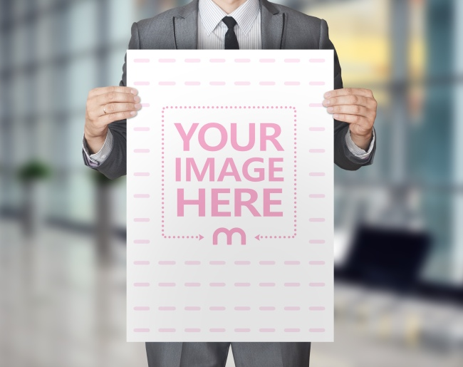 Man Holding Poster - Facebook 3D Photo Template preview image