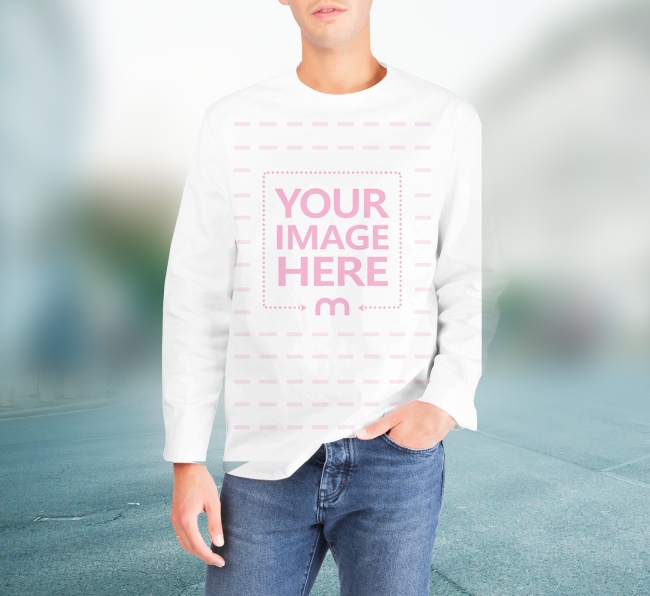 Man Wearing Sweater - 3D Facebook Photo Template preview image