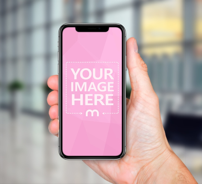 iPhone in Hand - Facebook 3D Photo Template preview image