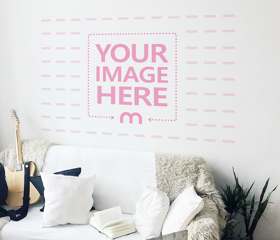 Home Wall Decoration Painting Mockup Generator preview image