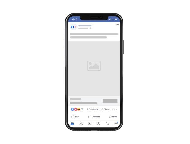 Facebook Mobile Ad Post Mockup Generator preview image