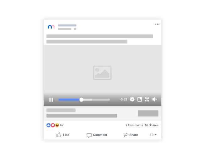 Facebook Video Post Mockup Generator preview image