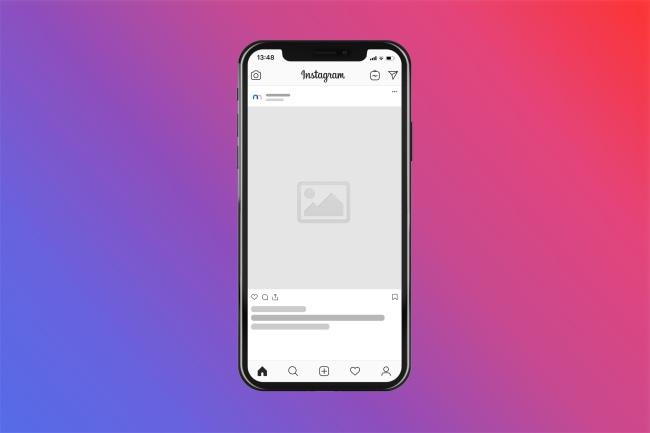 Instagram Post in iPhone Mockup Generator