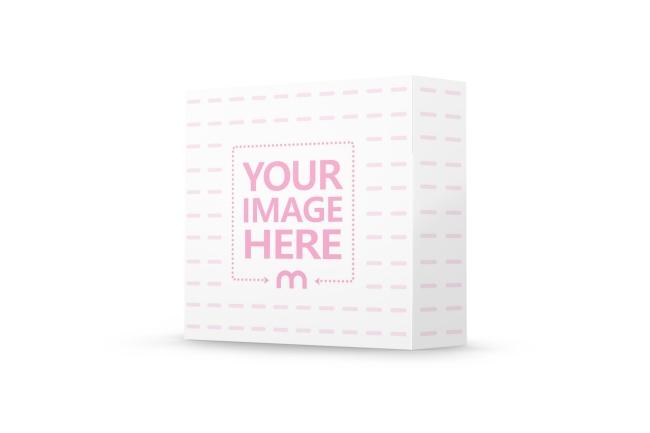 Standing Square Box Mockup Generator preview image