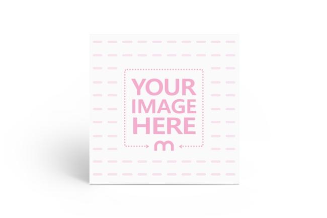 Standing Square Postcard Mockup Generator preview image
