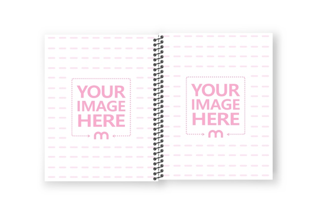 8.5x11 Notebook Interior with Coil Binding Mockup Generator preview image