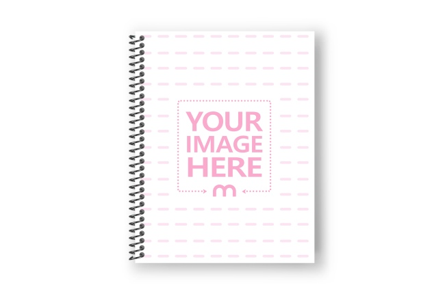 Binded 8.5x11 Notebook Cover Mockup Generator preview image