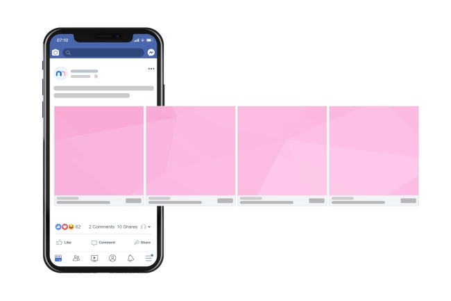 Facebook Mobile Carousel Ad Mockup (1 Image) preview image