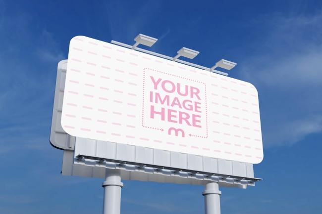 Large Outdoor Billboard Sign Mockup Generator