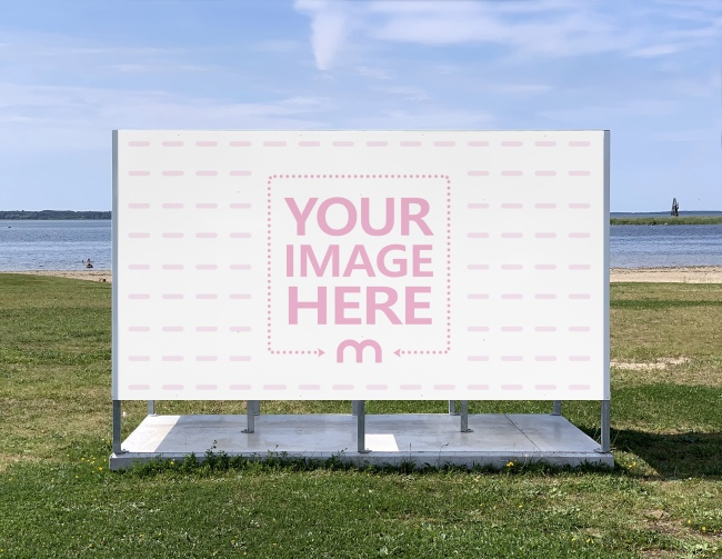 Beach Changing Booth Ad Mockup Generator