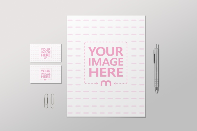 Letterhead and Business Cards Mockup