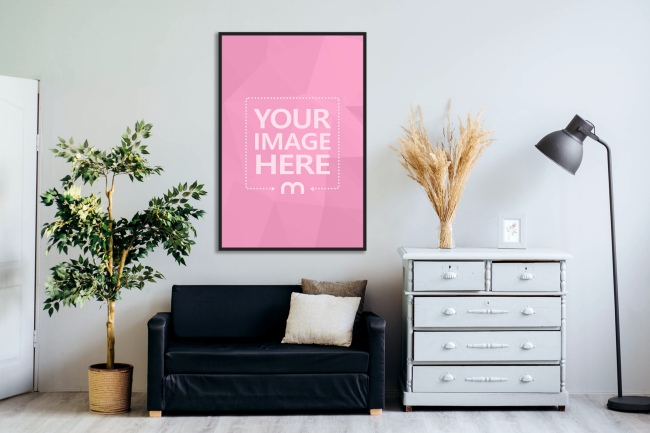 Poster on Home Wall Mockup Generator preview image