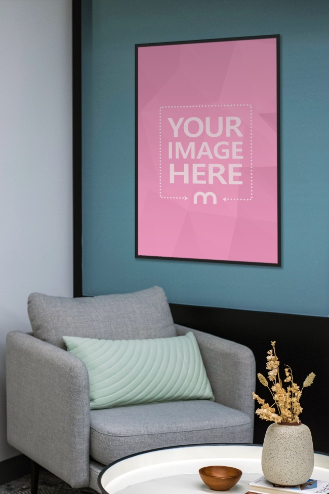 Poster on Home Wall Mockup preview image