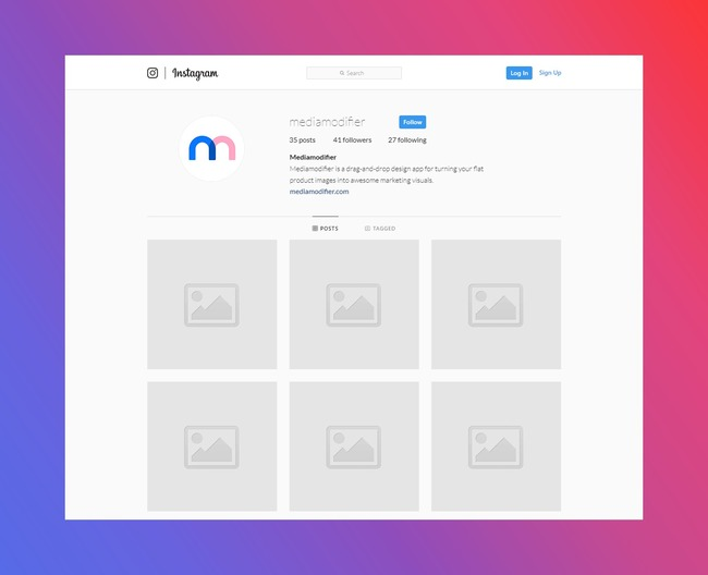Instagram Profile Mockup (Desktop) preview image