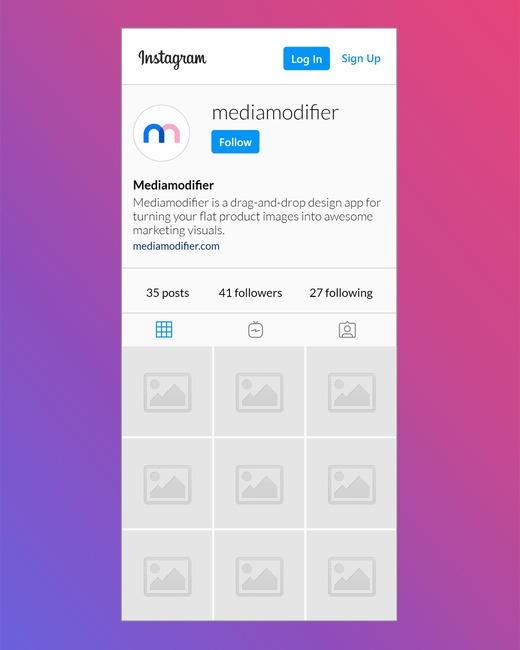 Instagram Profile Mockup (Mobile) preview image