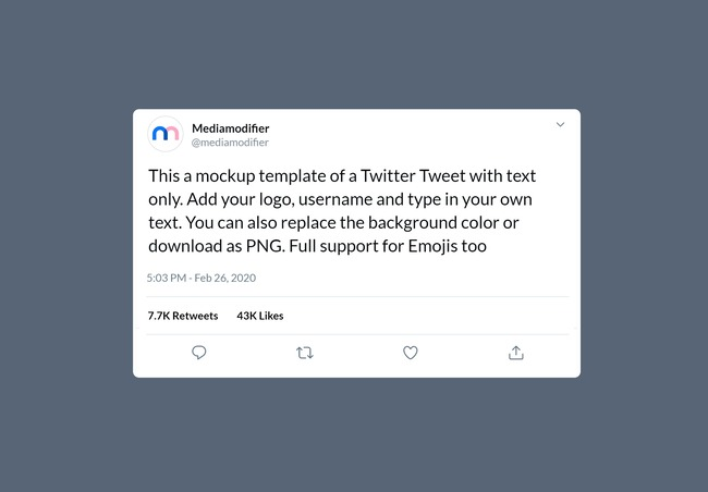 Twitter Text Tweet Mockup preview image