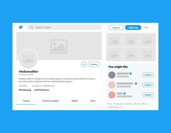 Twitter Profile Mockup Generator (Desktop) preview image