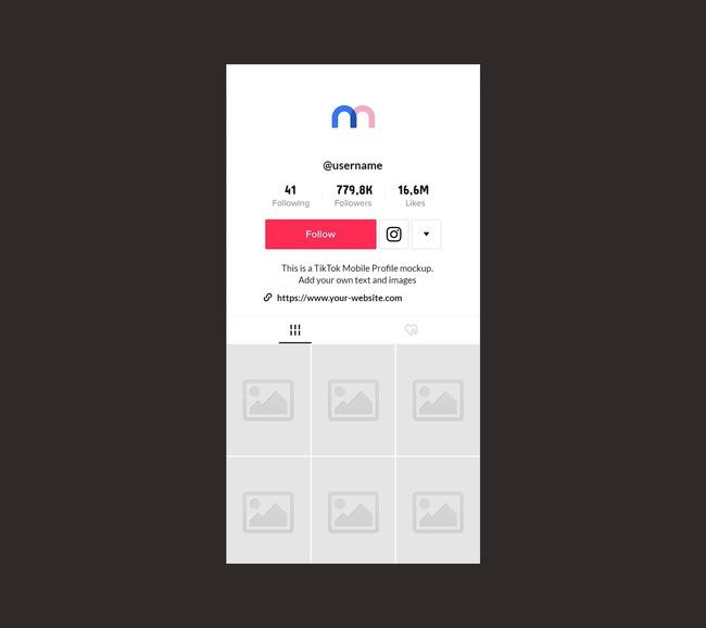 TikTok Profile Mockup (Mobile) preview image