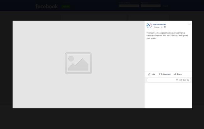 Facebook Post Mockup (Desktop) preview image