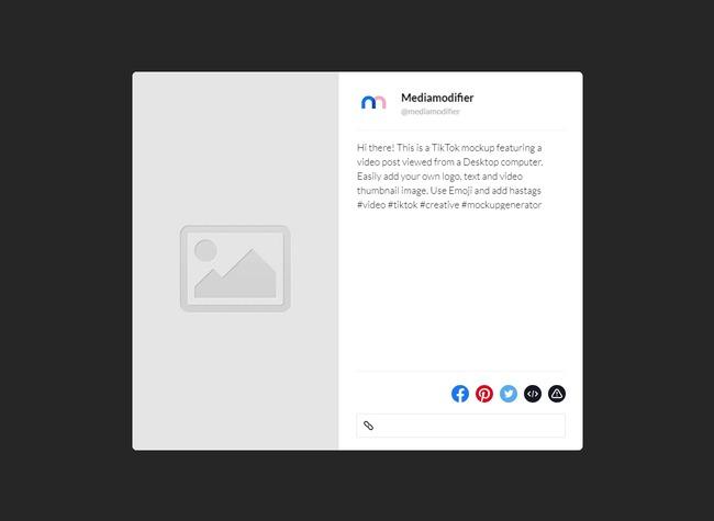TikTok Video Mockup (Desktop) preview image