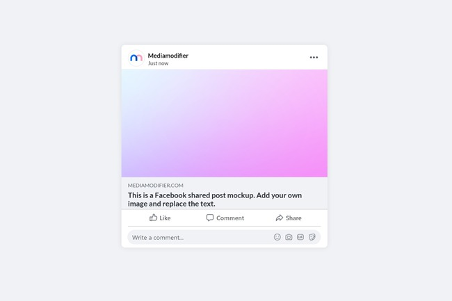 Facebook Shared Post Mockup preview image