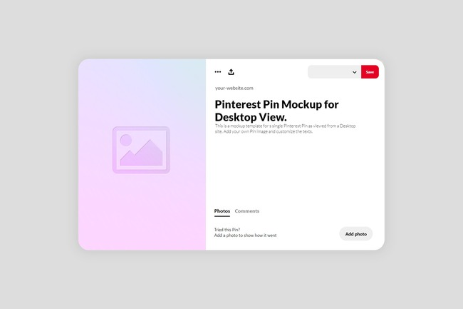Pinterest Pin Mockup (Desktop) preview image