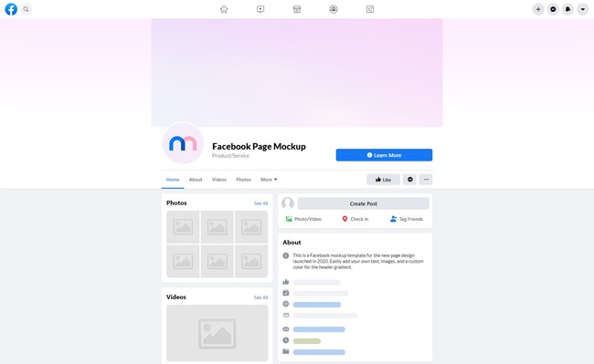 Facebook New Profile Mockup (2020) preview image