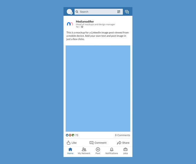 LinkedIn Mobile Post Mockup preview image