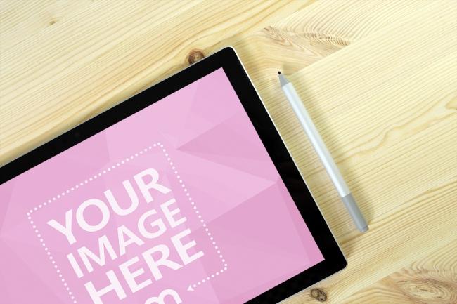 Closeup Surface Pro Tablet Mockup
