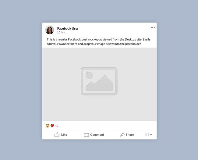 Facebook Regular Post Mockup preview image