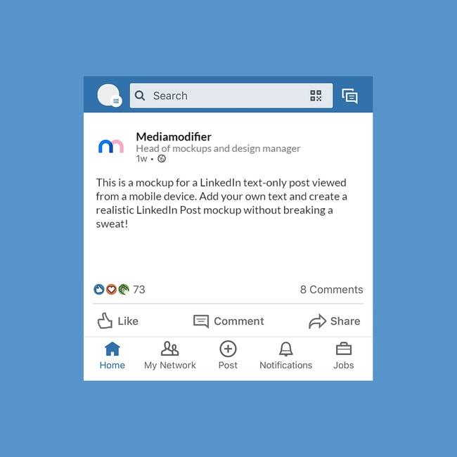 LinkedIn Text Post Mockup Generator
