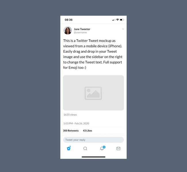 Twitter Mobile Post Mockup Generator preview image