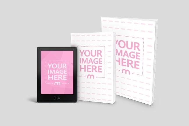 Kindle, Book and Magazine Mockup