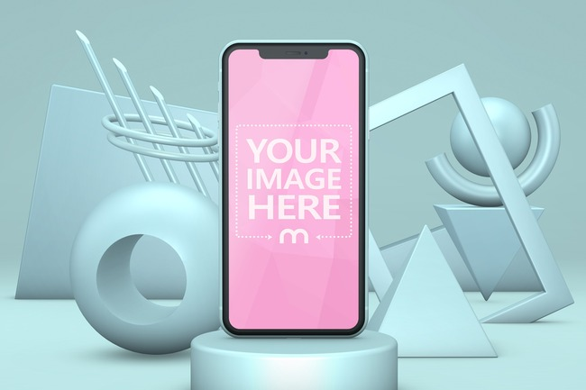 iPhone 11 3D Background Mockup preview image