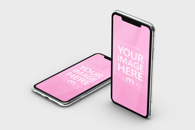 iPhone 11 Double Screen Mockup preview image