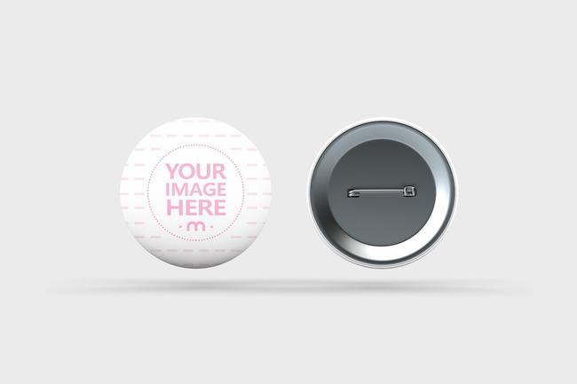 Pin Badge Design Mockup preview image